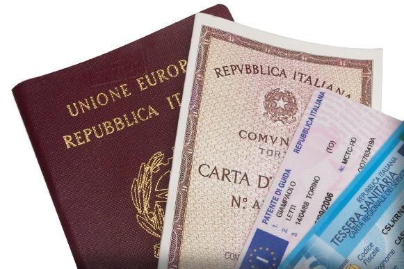 DOCUMENTO DI RICONOSCIMENTO - Avviso Disposizioni Legge 24 Aprile 2020 n. 27